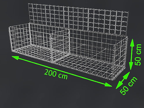 GABION 2m x 0,5m x 0,5m (L x B x H)