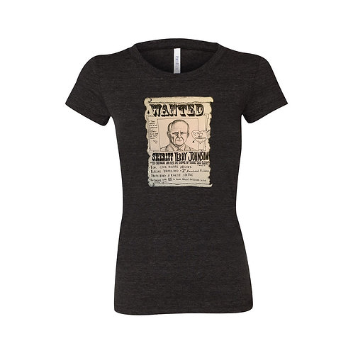 Wanted T-Shirt - Black Heather Bella+Canvas