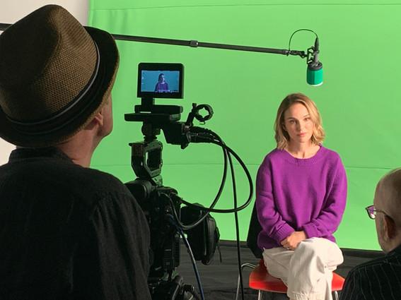 Natalie Portman documentary shoot