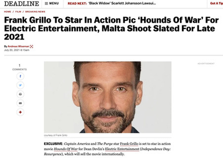 Frank Grillo stars in Hounds of War