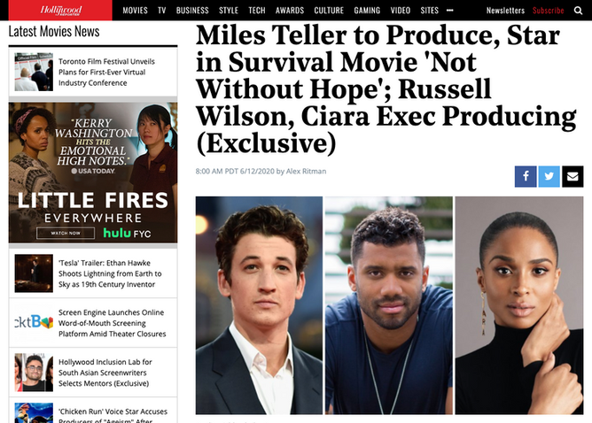 Miles Teller to produce, star in survival movie /Not Without Hope'
