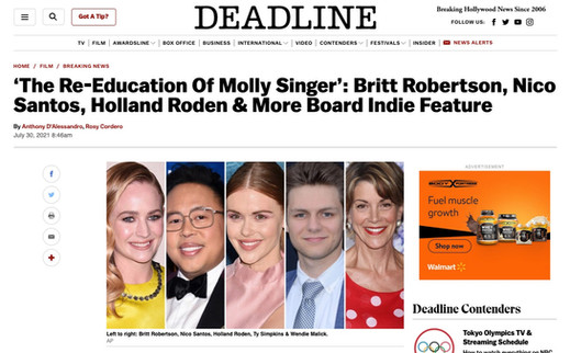 Britt Robertson stars in 'The Re-Education of Molly Singer