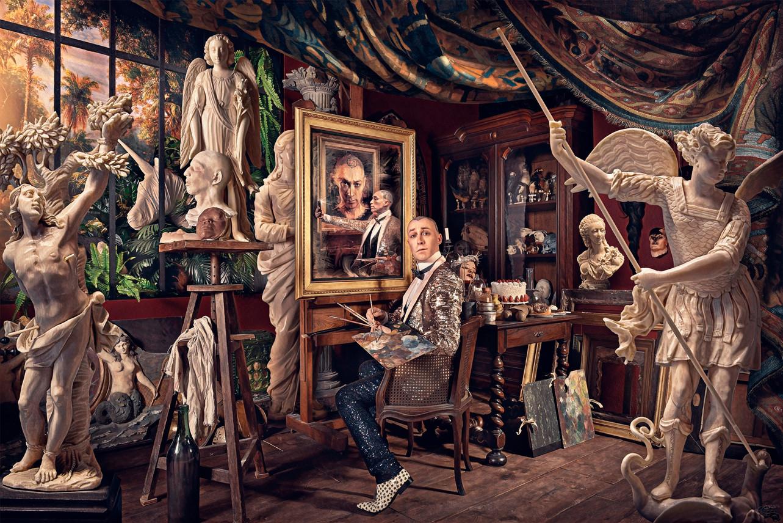 Autoportrait d'atelier, 2020. 100 x 150 cm.