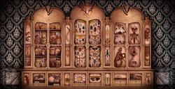Cabinet de curiosités.