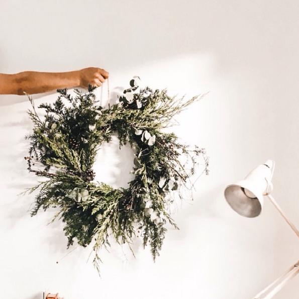 winter wreath making workshop 2019