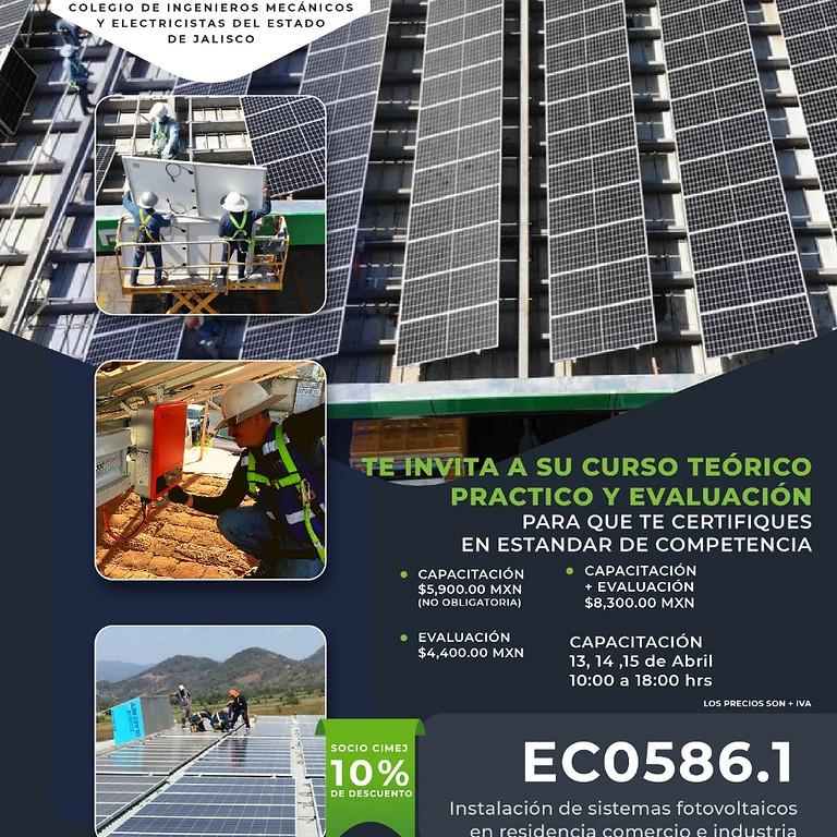 EC0586.01 Instalación de sistemas fotovoltaicos en residencia, comercio e industria (LIMITADO A 20 PERSONAS)