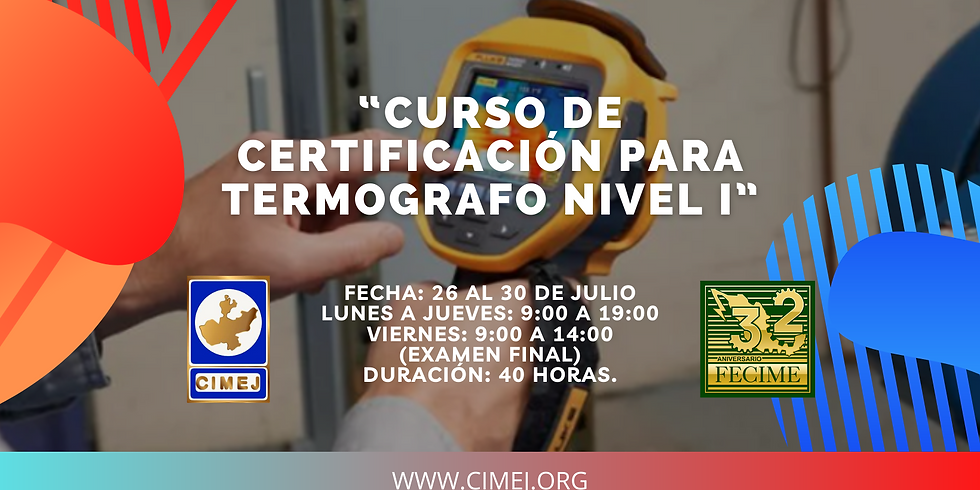 """""""Curso de certificación para termografo nivel 1"""""""
