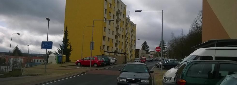 Veřejné osvětlení ulice Dvořákova