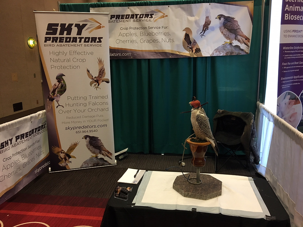 Midwest Poultry Convention-Sky Predators Booth