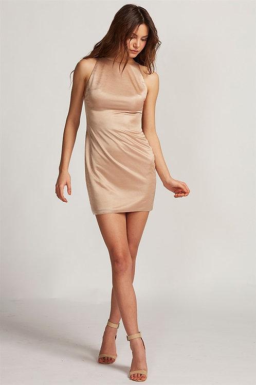 Krem Mini Elbise