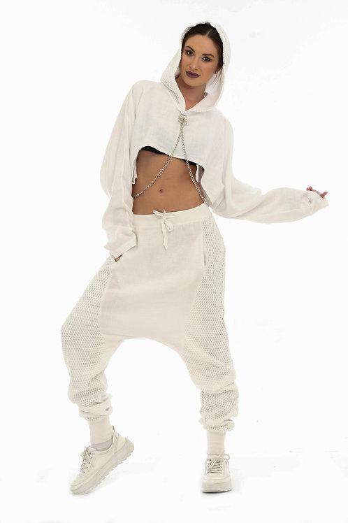 Beyaz Tasarım Sweatshirt