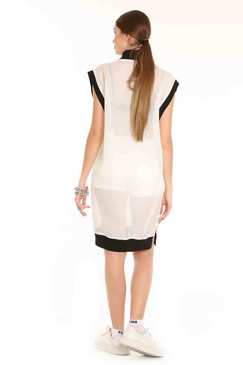 Beyaz File Elbise