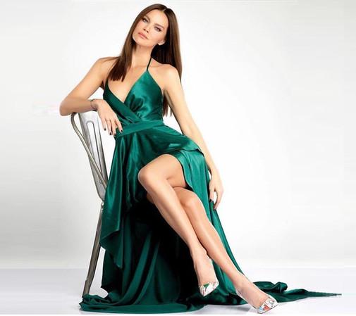 ebru şallı elbise