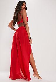 Kırmızı Kimono Etek