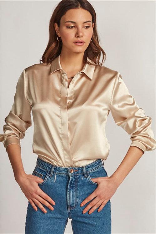 Altın Saten Gömlek