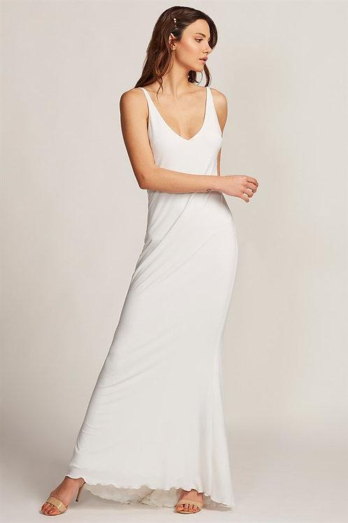 Swan Beyaz Maxi Elbise