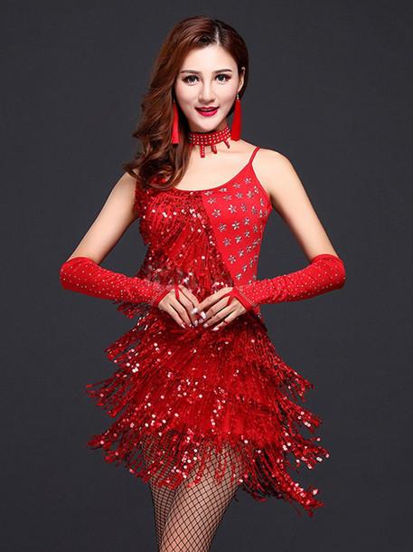 kırmızı salsa kostümü kıyafeti