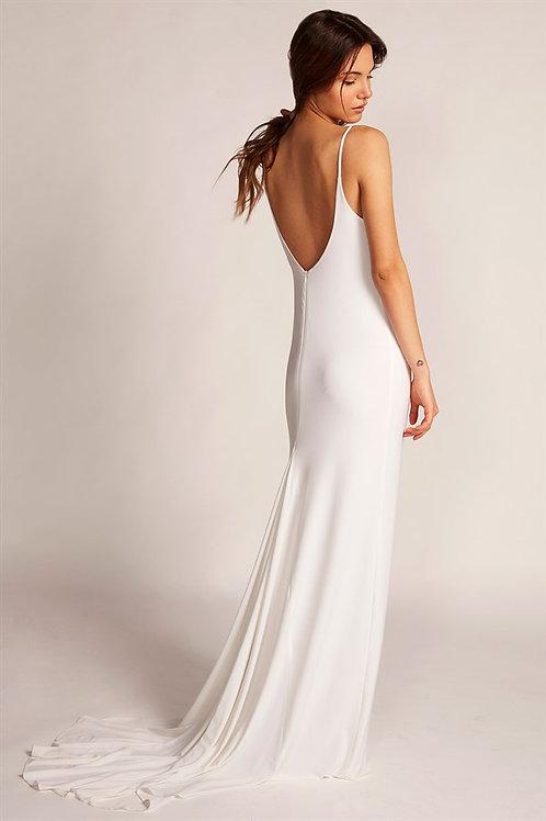Beyaz Kuyruklu Maxi Elbise