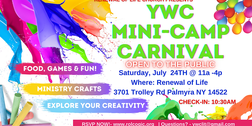 YWC Mini- Camp Carnival