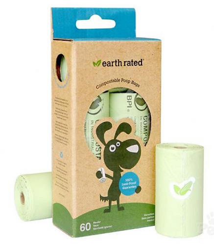 Earth Rated Compostable Poop bags 60PK