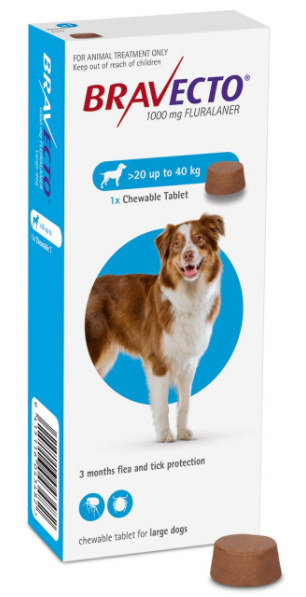 Bravecto Chewable For Dogs 20 to 40kg