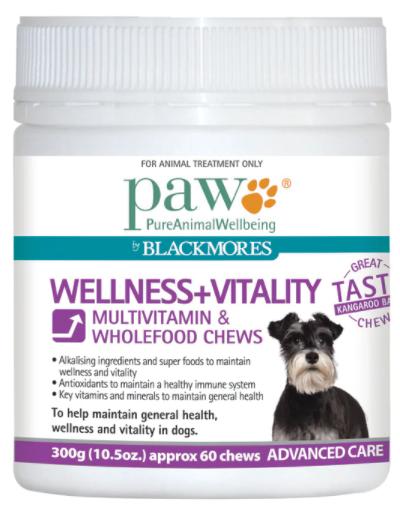 Blackmores PAW Wellness + Vitality Chews
