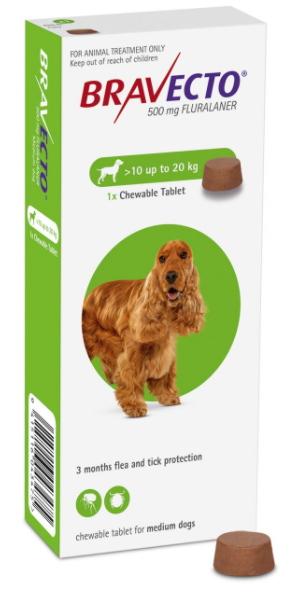 Bravecto For Dogs Chewable 10-20kg