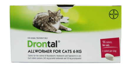 Drontal all womers for cats 6kg single tablets