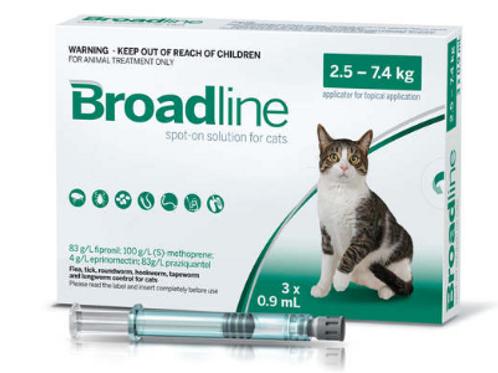 Broadline Spot On Solution For Cats 2.5-7.5kg