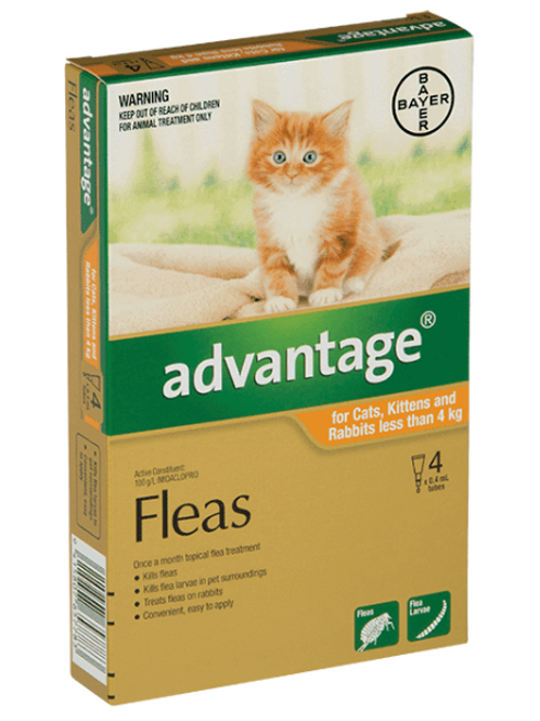Advantage® for Small Cats and Kittens & Rabbits less than 4kg