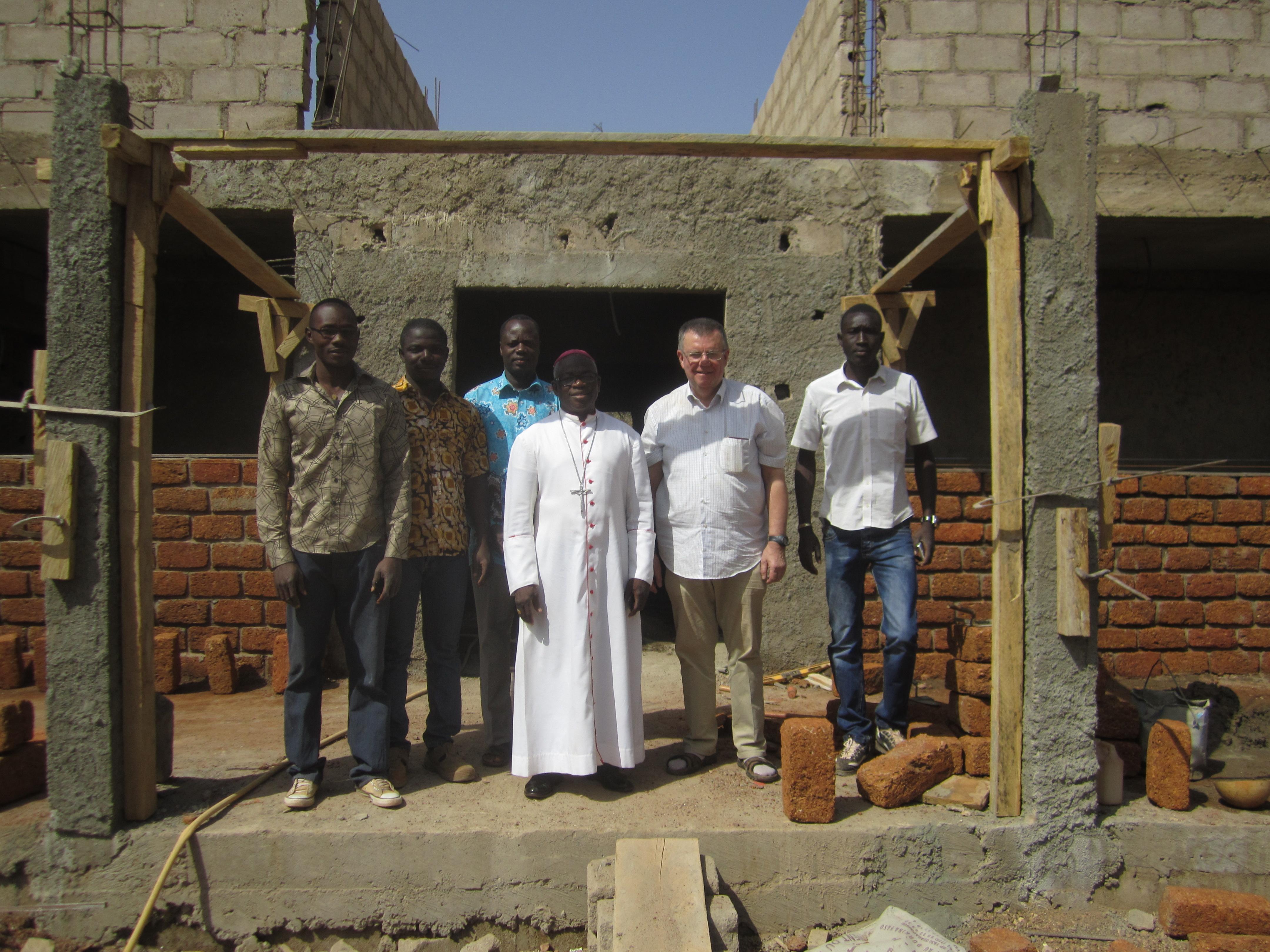 bezoek van mgr Rafael Dabire