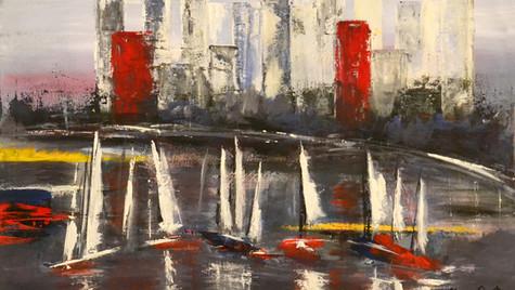Abstracto  de  Mar  y  Ciudad