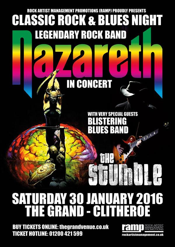 Classic Rock & Blues Night: NAZARETH with THE STUMBLE - Clitheroe 30th January 2016