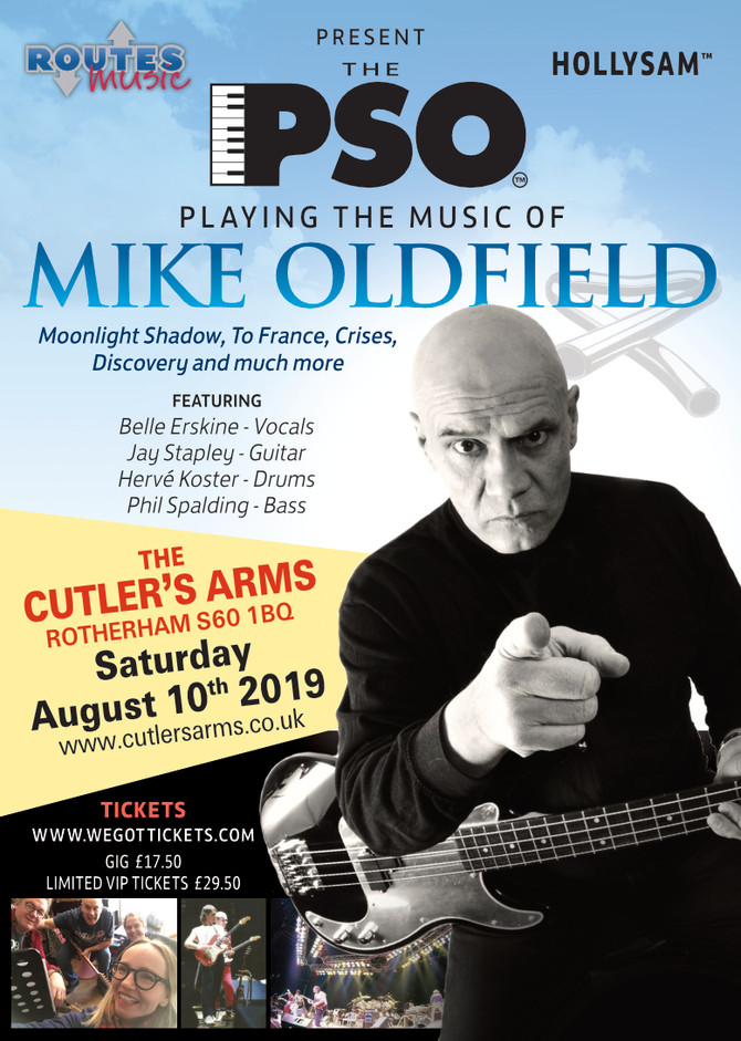PSO Presents - The Music of Mike Oldfield. Exclusive gig, 10th August