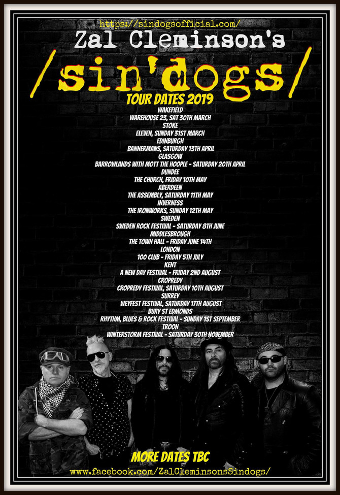 Zal Cleminson's /sin'dogs/ - 'live' & hungry!