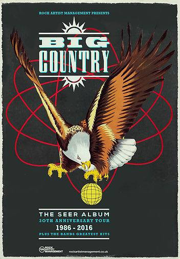 BIG COUNTRY - 'THE SEER 30TH ANNIVERSARY UK TOUR - starts Southampton, 14th Sept...