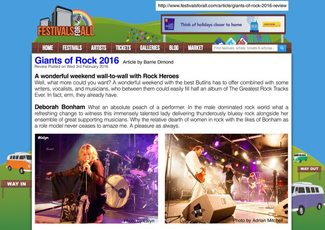 DEBORAH BONHAM - UK & EUROPE GIGS FOLLOW 3RD GIANTS OF ROCK TRIUMPH Enhanced versions of albums