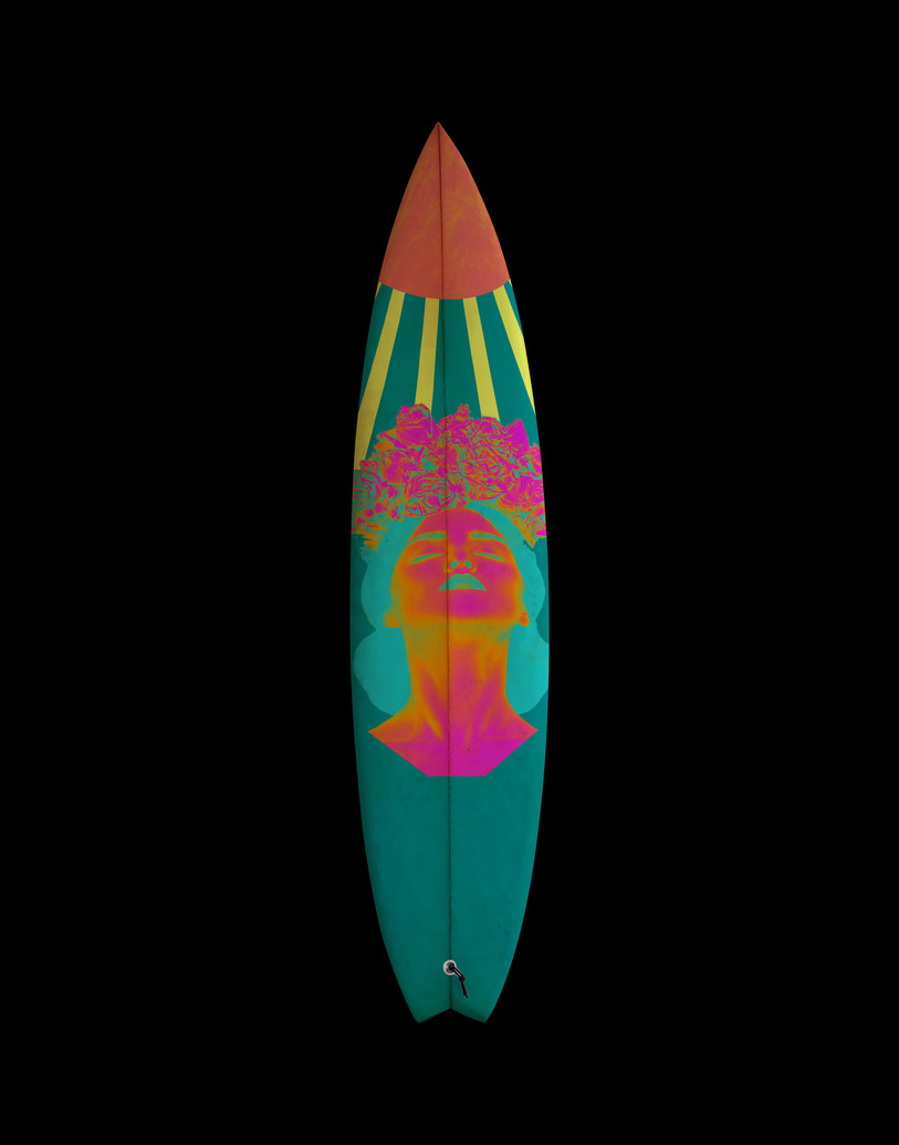 Flower Rays Surf Design