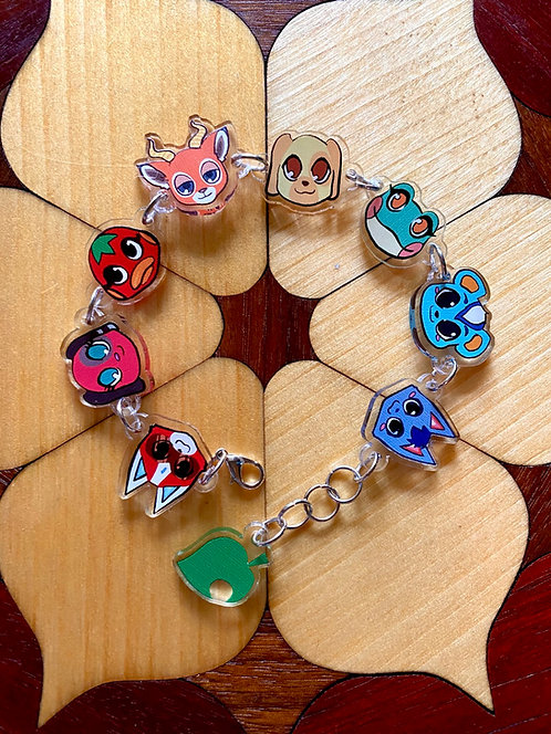 Animal crossing charm bracelet