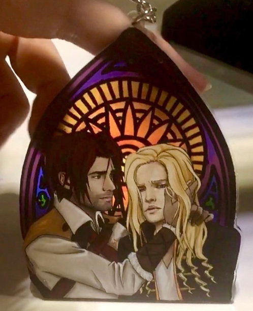 Castlevania stained glass charm