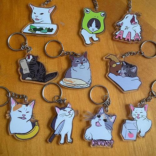 Cat meme charms