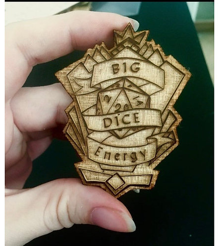 Big dice energy pin