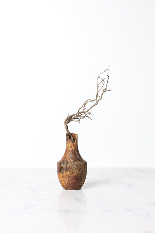 Spalted Elm Burr Dried Flower Vase #1
