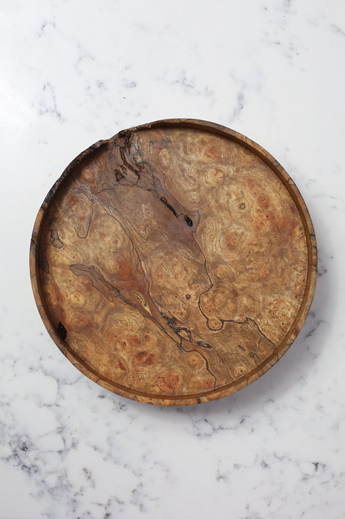 Spalted Elm Burr Small Halo Tray #1