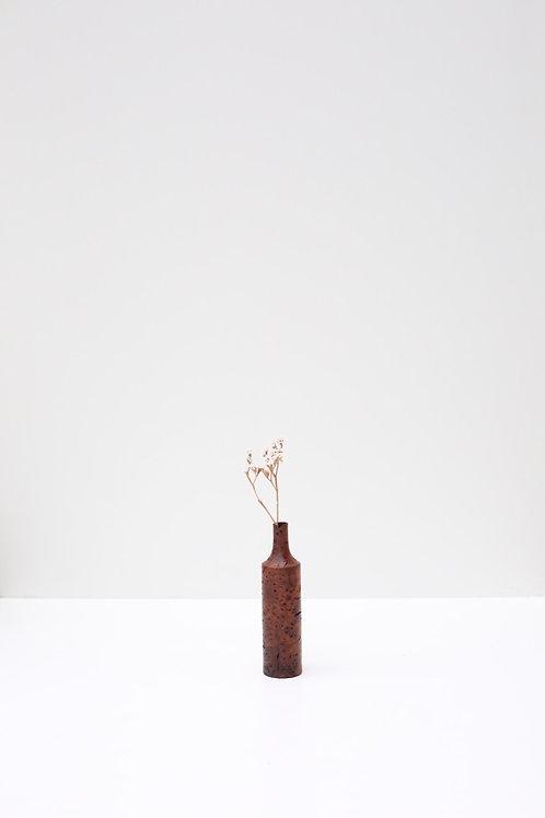 Elm Burr Single Dried Flower Wooden Vase