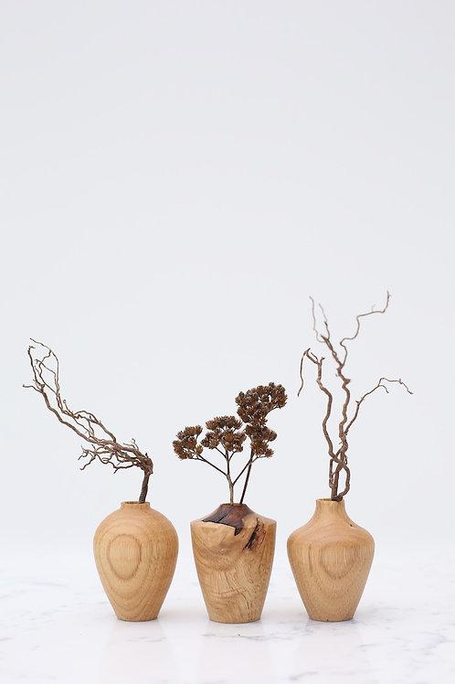 Chestnut Mini Dried Flower Vase Set #1