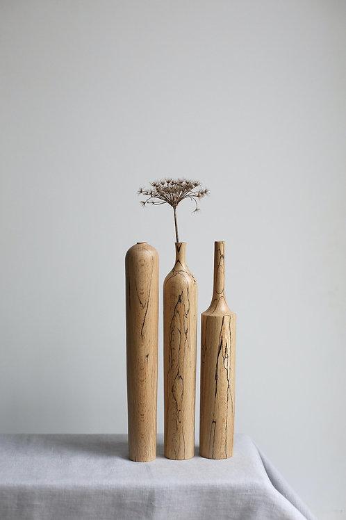 Spalted Beech Dried Flower Vase Set #1