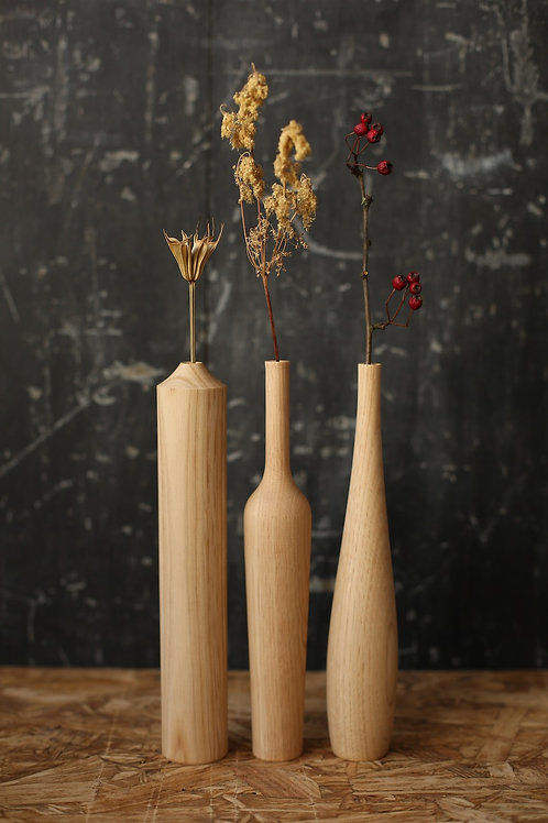 Set of 3 Chestnut Medium Dried Flower Vases