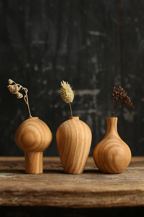 Cherry Mini Dried Flower Vase Set #4