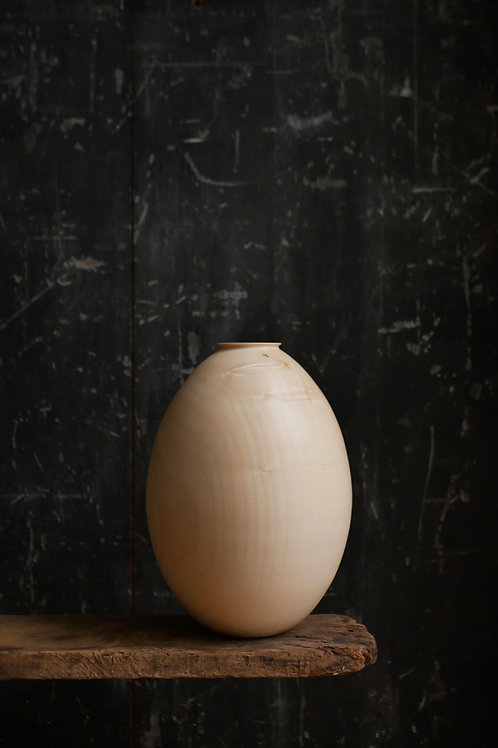 Large Sycamore Egg Hollow Vessel